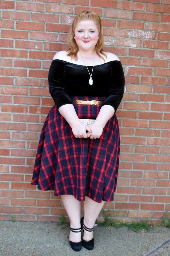 plus size fashion - wardrobe remix - plaid skirt   fabuplus magazine
