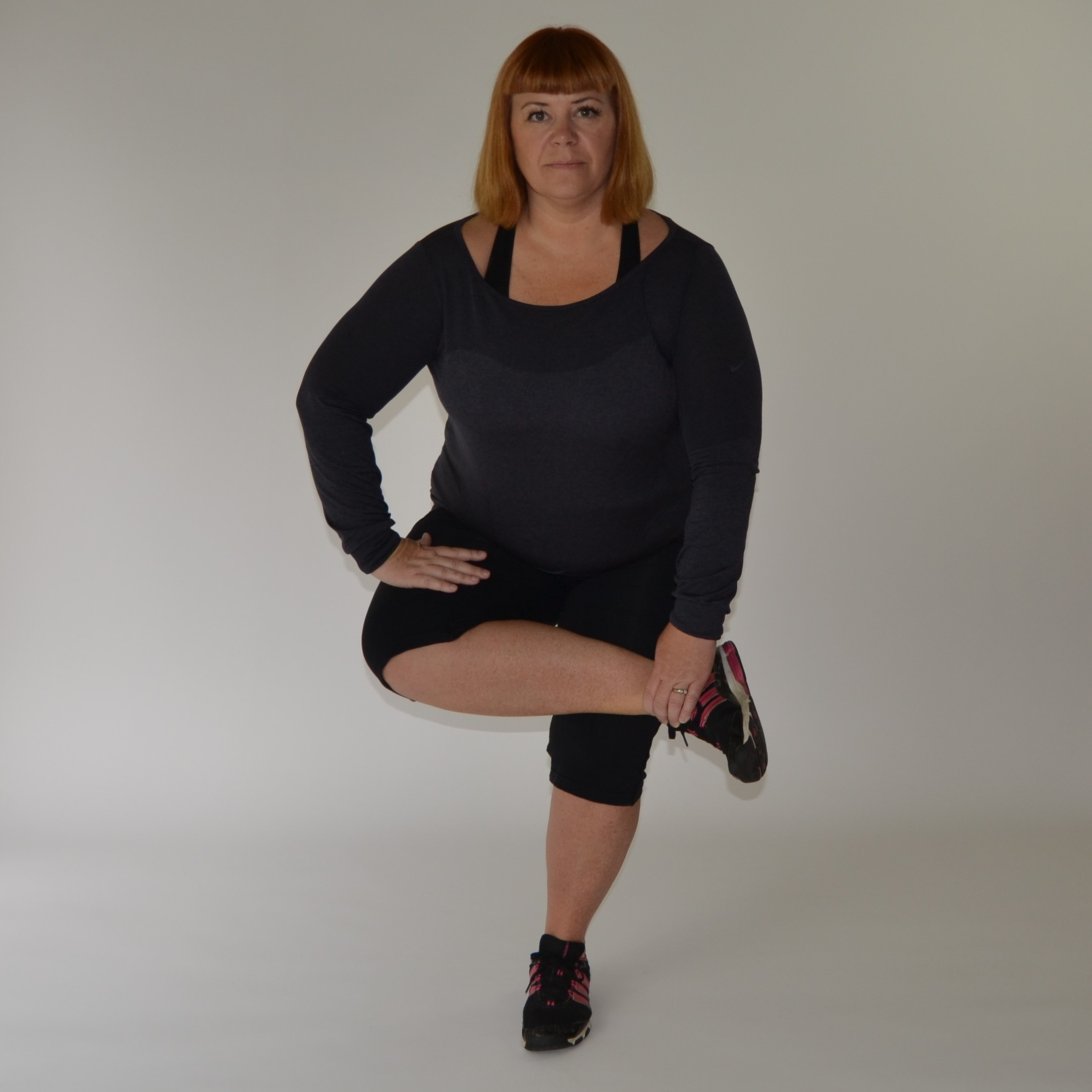 Big Fit Girl Stretching Routine